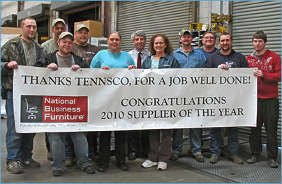 Tennsco Corp. 2010 Suppier of the year