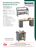 Workbenches and Shop Equipment price list